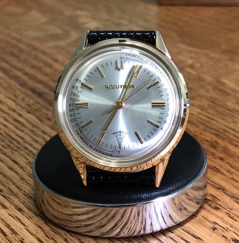 1967 Vintage Accutron 214 Pulsation Doctor's Watch