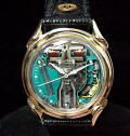 Bulova Accutron Gold Spaceview Fancy Lug Repaired