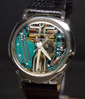 14K Gold ALPHA Accutron Spaceview 214 Repaired