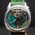 Asymmetric Florentine Bezel Accutron Spaceview 214 Repaired