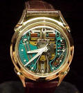 Spiral Lug Accutron 214 Spaceview in Solid Gold Repaired